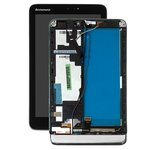 LCD Lenovo IdeaTab MIIX 2 8, (black, with touchscreen, with frame)