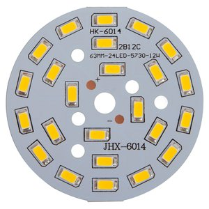 PCB with LEDs 12 W (warm white, 1440 lm, 63 mm)