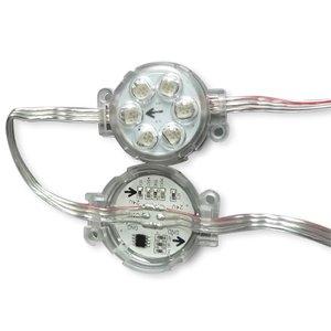 Round LED Module Kit (UCS1903, 6 SMD5050 LEDs, 40 mm, IP67, 20 pcs.)