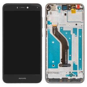 LCD compatible with Huawei P8 Lite (2017), P9 Lite (2017), (black, with touchscreen, with frame, Original (PRC), PRA-LA1, PRA-LX2, PRA-LX1, PRA-LX3)