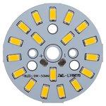 Placa PCB con diodos LED de 9 W (luz blanca tíbia, 1080 lm, 50 mm)
