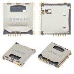 Коннектор SIM-карты Samsung C3010, P900, S5230 Star, S5230W, с коннектором карты памяти