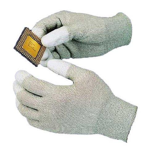 Антистатичні рукавиці з поліуретанним покриттям на кінчиках пальців Goot WG 4M