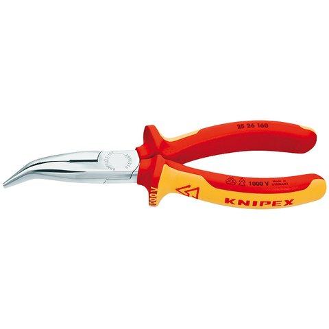 Круглогубці зігнуті з ріжучими крайками Knipex 25 26 160