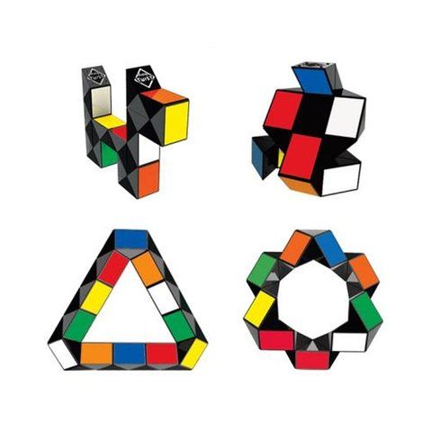 Головоломка Кубик Рубика Rubik's Змейка (разноцветная)