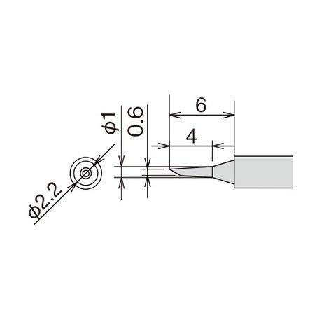 Soldering Iron Tip Goot RX 81HRT 0.6C